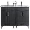 48-in. W x 17-in. D Modern Plywood-Melamine Vanity Base Set Only In Dawn Grey