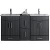 60-in. W x 17-in. D Modern Wall Mount Plywood-Melamine Vanity Base Set Only In Dawn Grey