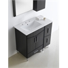 36-in. W x 17-in. D Plywood-Melamine Vanity Set In Dawn Grey