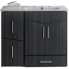 American Imaginations 36-in. W x 17-in. D Plywood-Melamine Vanity Set In Dawn Grey