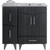 36-in. W x 17-in. D Plywood-Melamine Vanity Set In Dawn Grey