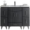 48-in. W x 17-in. D Plywood-Melamine Vanity Set In Dawn Grey