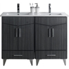 American Imaginations 48-in. W x 17-in. D Plywood-Melamine Vanity Set In Dawn Grey