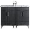 48-in. W x 17-in. D Plywood-Melamine Vanity Set In Dawn Grey