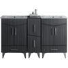 American Imaginations 60-in. W x 17-in. D Plywood-Melamine Vanity Set In Dawn Grey