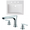 21-in. W x 18.5-in. D Ceramic Top Set In White Color With 8-in. o.c. CUPC Faucet