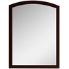 23.62-in. W x 31.5-in. H Modern Birch Wood-Veneer Wood Mirror In Coffee