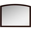 35.43-in. W x 25.6-in. H Modern Birch Wood-Veneer Wood Mirror In Coffee