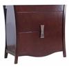 35.35-in. W x 18.03-in. D Modern Birch Wood-Veneer Vanity Base Only In Coffee