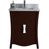 23.54-in. W x 18.03-in. D Birch Wood-Veneer Vanity Set In Coffee