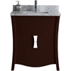 29.45-in. W x 18.03-in. D Birch Wood-Veneer Vanity Set In Coffee