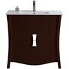 35.35-in. W x 18.03-in. D Birch Wood-Veneer Vanity Set In Coffee