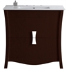 American Imaginations 35.35-in. W x 18.03-in. D Birch Wood-Veneer Vanity Set In Coffee