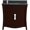 35.35-in. W x 18.03-in. D Birch Wood-Veneer Vanity Set In Coffee