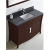 47.17-in. W x 18.03-in. D Birch Wood-Veneer Vanity Set In Coffee