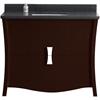 47.17-in. W x 18.03-in. D Birch Wood-Veneer Vanity Set In Coffee