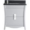 29.45-in. W x 18.03-in. D Birch Wood-Veneer Vanity Set In White