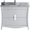 47.17-in. W x 18.03-in. D Birch Wood-Veneer Vanity Set In White