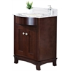 24-in. W x 22-in. D Birch Wood-Veneer Vanity Set In Coffee