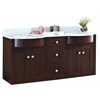 60-in. W x 22-in. D Birch Wood-Veneer Vanity Set In Coffee