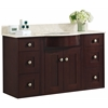 American Imaginations 48-in. W x 22-in. D Transitional Wall Mount Birch Wood-Veneer Vanity Base Set Only In Coffee