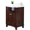 24-in. W x 22-in. D Transitional Birch Wood-Veneer Vanity Base Set Only In Coffee