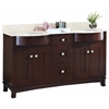 American Imaginations 60-in. W x 22-in. D Transitional Birch Wood-Veneer Vanity Base Set Only In Coffee