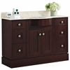 American Imaginations 48-in. W x 22-in. D Transitional Birch Wood-Veneer Vanity Base Set Only In Coffee