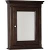 22.5-in. W x 30-in. H Traditional Birch Wood-Veneer Medicine Cabinet In Walnut