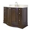 American Imaginations 49-in. W x 21-in. D Traditional Birch Wood-Veneer Vanity Base Only In Walnut