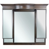 American Imaginations 53-in. W x 46-in. H Traditional Birch Wood-Veneer Wood Mirror In Walnut