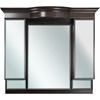 American Imaginations 47-in. W x 46-in. H Traditional Birch Wood-Veneer Wood Mirror In Walnut