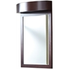 24-in. W x 36-in. H Transitional Birch Wood-Veneer Wood Mirror In Coffee