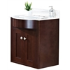 23-in. W x 20-in. D Transitional Wall Mount Birch Wood-Veneer Vanity Base Only In Coffee