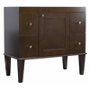 American Imaginations 34.5-in. W x 18-in. D Transitional Birch Wood-Veneer Vanity Base Only In Antique Walnut
