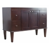 American Imaginations 46.5-in. W x 17.75-in. D Transitional Birch Wood-Veneer Vanity Base Only In Antique Walnut