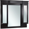 American Imaginations 50-in. W x 46-in. H Traditional Birch Wood-Veneer Wood Mirror In Dark Mahogany