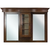 American Imaginations 64-in. W x 46-in. H Traditional Birch Wood-Veneer Wood Mirror In Antique Cherry