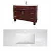48-in. W x 18-in. D Birch Wood-Veneer Vanity Set In Antique Cherry
