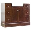 American Imaginations 38-in. W x 14-in. D Modern Birch Wood-Veneer Vanity Base Only In Cherry