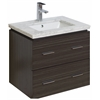 American Imaginations 23-in. W x 17-in. D Modern Wall Mount Plywood-Melamine Vanity Base Only In Dawn Grey