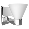 American Imaginations Wall Sconces Light In Chrome With White Cover