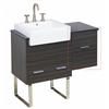 American Imaginations 14-in. W x 18-in. H Modern Plywood-Melamine Modular Drawer In Dawn Grey