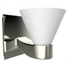 American Imaginations Wall Sconces Light In Brushed Nickel With White Cover