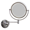 American Imaginations 8.5-in. W Round Brass-LED Wall Mount Magnifying Mirror In Chrome Color