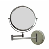 American Imaginations 9.13-in. W Round Brass-Mirror Wall Mount Magnifying Mirror In Chrome Color