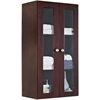 23.5-in. W x 47.75-in. H Transitional Birch Wood-Veneer Wall Curio In Coffee