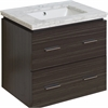 American Imaginations 24-in. W x 18-in. D Plywood-Melamine Vanity Set In Dawn Grey