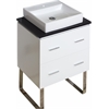 American Imaginations 24-in. W x 18-in. D Plywood-Veneer Vanity Set In White