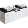 62-in. W x 18.5-in. D Plywood-Veneer Vanity Set In White